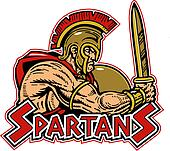 spartan with shield and sword