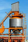 Cement silo outdoors
