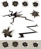 Bullet Holes, Cracks And Slashes Set