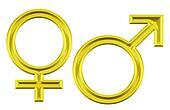 male-female golden icon