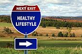 Healthy lifestyle road sgn