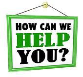 How Can We Help You Hanging Store Sign Helpful Service