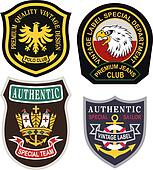 royalty emblem badge shield set