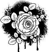 Grunge Rose Design