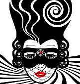 image of an dame in mask-target