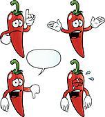 Crying chili pepper set