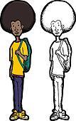 Skinny Teen with Backpack