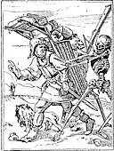 Dance of Death, vintage engraving