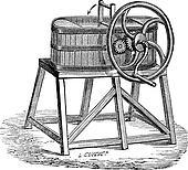 Rowan Butter Churn, vintage engraving
