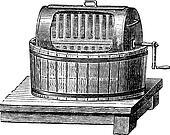 Butter Churn, vintage engraving