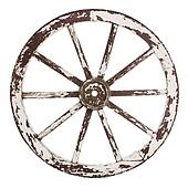 Old cart wheel