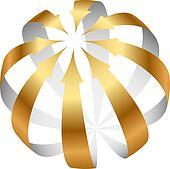 Vector gold arrows icon
