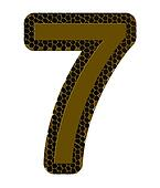 number seven on a white background, it is isolated