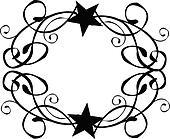 Star Tribal Border Frame Vector