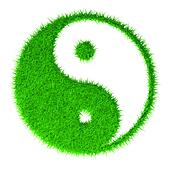 The yin and yang grass sign