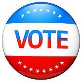 Vote election campaign badge