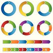 Set of colourful Circle Diagrams