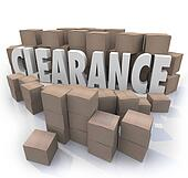 Clearance Sale Inventory Boxes Stockroom