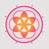 Red seed of a flower of life vecto