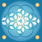Sacred geometry-Blue Flower of life