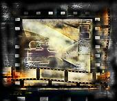 Old film strip frame background