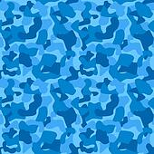 Seamless Camouflage Pattern For Boys. Tiled Texture, Background. Vector Illustration