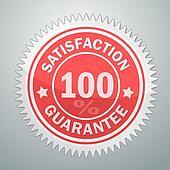 Vector badge of satisfaction garantee