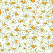 Flower camomile seamless pattern ba