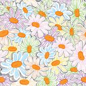 Flower camomile seamless pattern pa