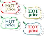 Hot price stickers label tag set with clip