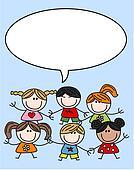 mixed ethnic children kids