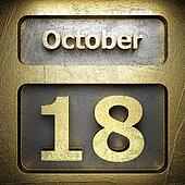 october 18 golden sign
