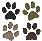 Paw Print with Texture