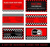Business card driver race - fifth set