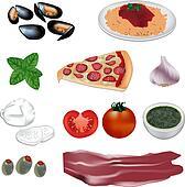 italian food vector illustration