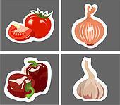 tomato onion garlic peppers