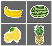 four species of fruit