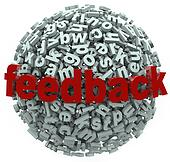 Feedback 3D Sphere Letters Input Comments