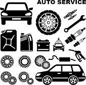 Auto Repair Shop Clip Art - Royalty Free - GoGraph