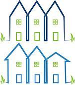 Real estate houses logos