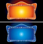 Retro Theater Marquee with Spotlight