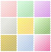 Set of polka dots backgrounds