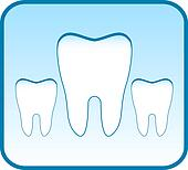 blue icon with set tooth
