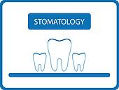 stomatology background with tooth