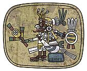 ancient petroglyph depicting a man