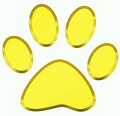 golden pawprint