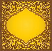 Islamic floral art in gold version
