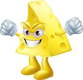 Angry cheese man