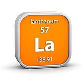 Lanthanum material sign