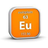 Europium material sign